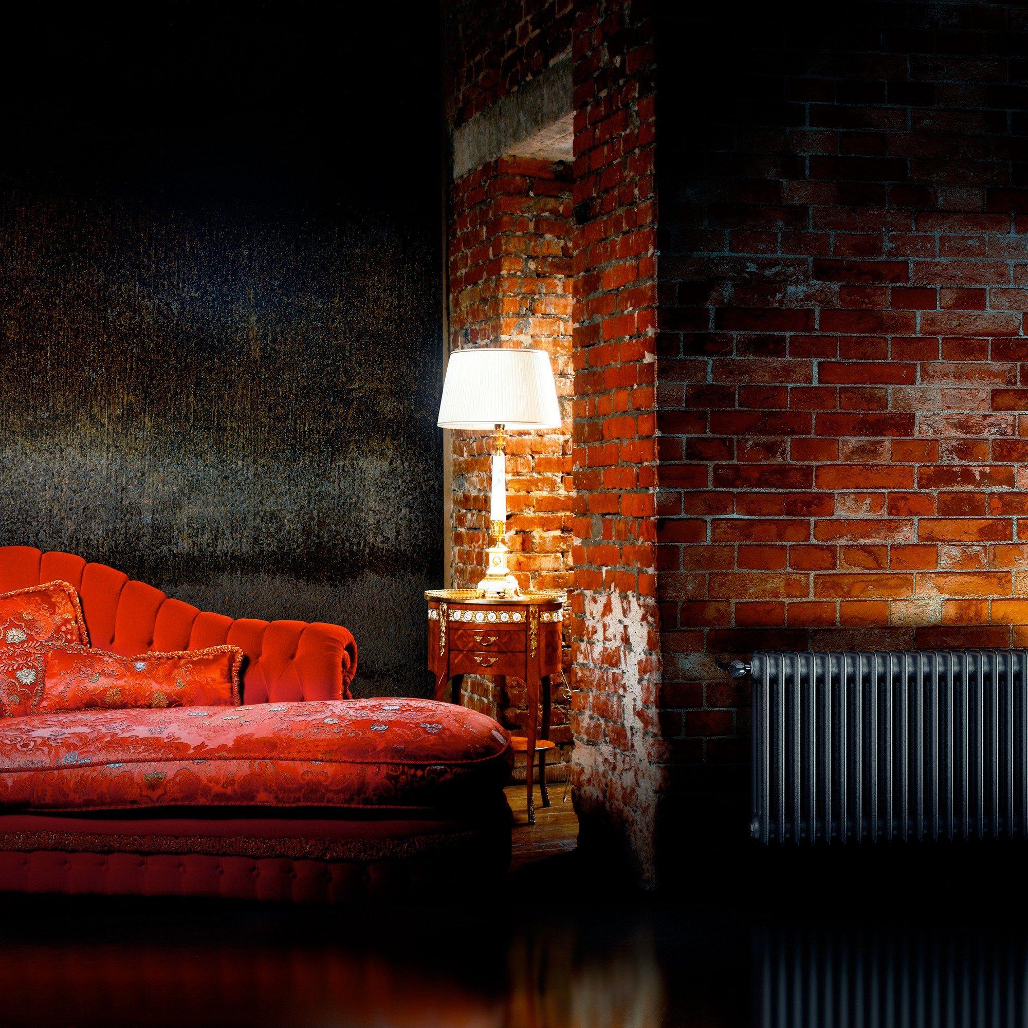 vintage style wall mounted steel decorative radiator. Black Bedroom Furniture Sets. Home Design Ideas
