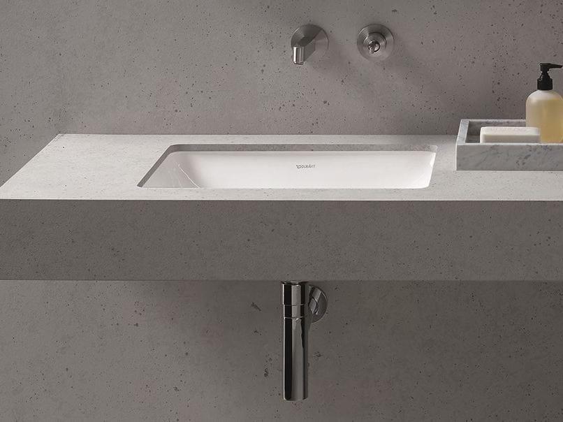 Me lavabo bajo encimera by duravit italia dise o philippe for Lavabo bajo encimera rectangular