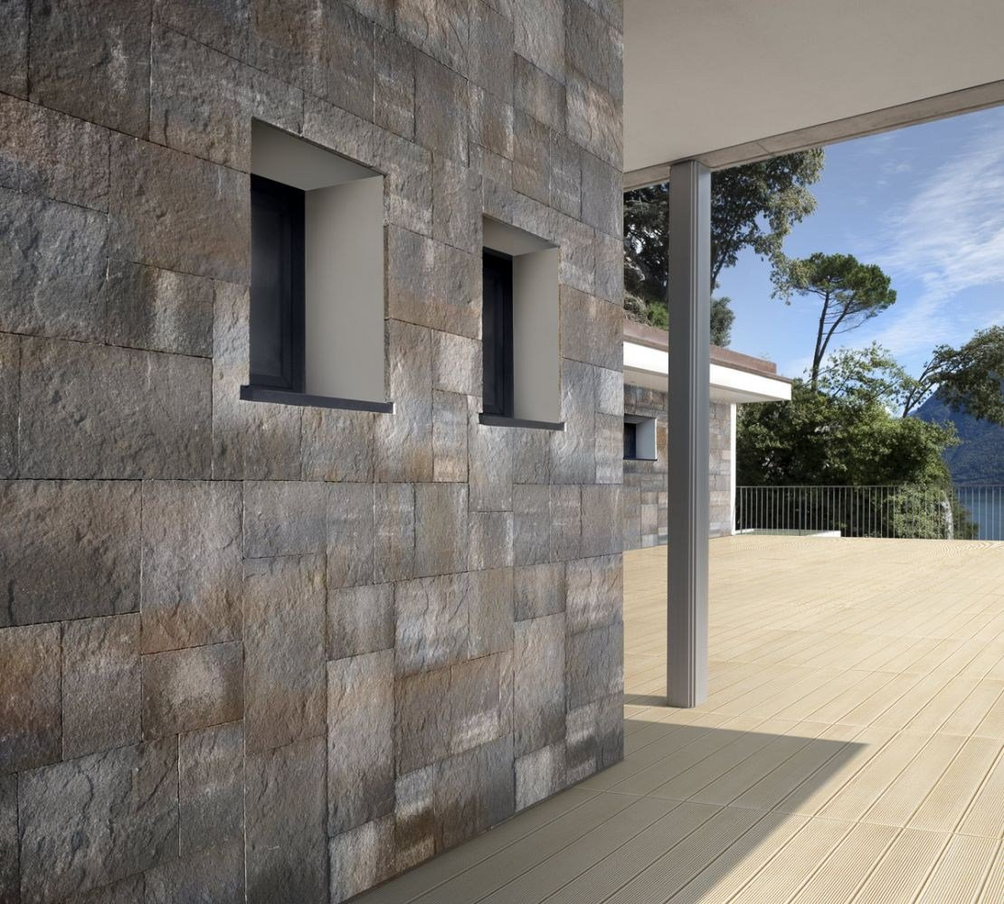 Revestimiento de pared suelo imitaci n piedra para - Piedra para pared exterior ...