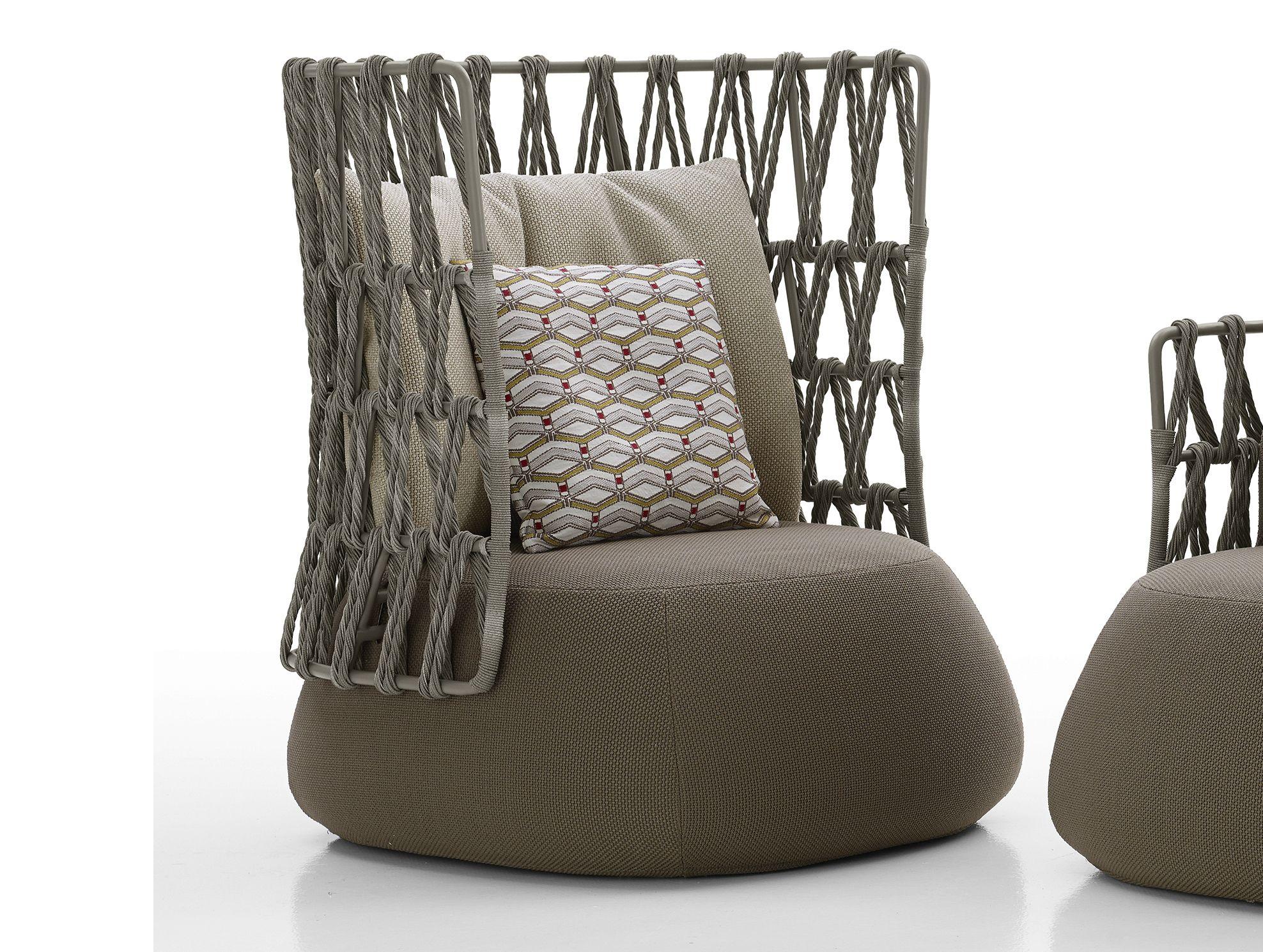 Fat sofa outdoor high back armchair by b b italia outdoor for B b italia outdoor