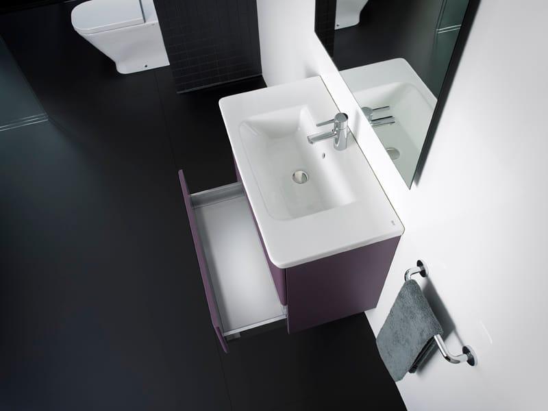Mueble bajo lavabo suspendido unik the gap by roca for Roca gap suspendido
