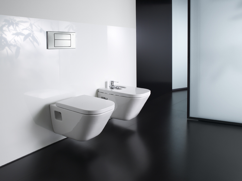 the gap bidet suspendu by roca sanitario design antonio bullo. Black Bedroom Furniture Sets. Home Design Ideas