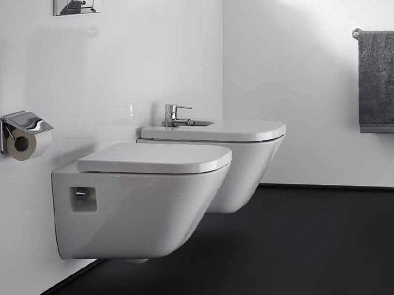 The gap bidet sospeso by roca sanitario design antonio bullo for Inodoro bidet precios
