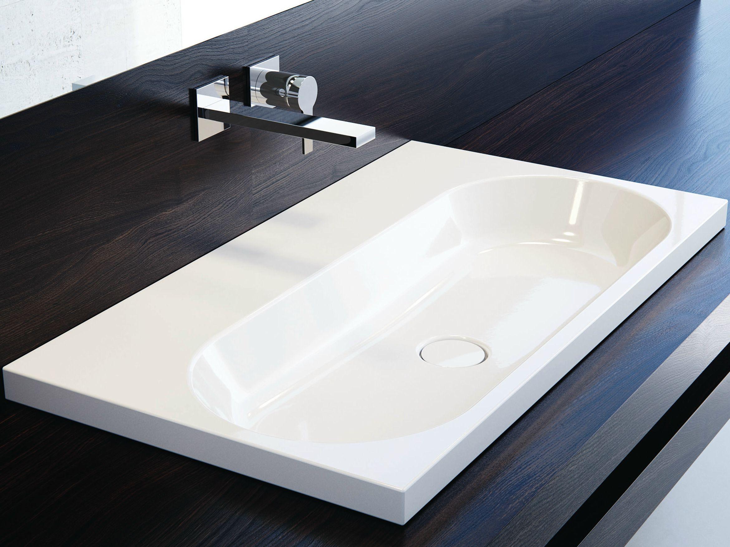 vasque encastrer rectangulaire en acier maill centro. Black Bedroom Furniture Sets. Home Design Ideas