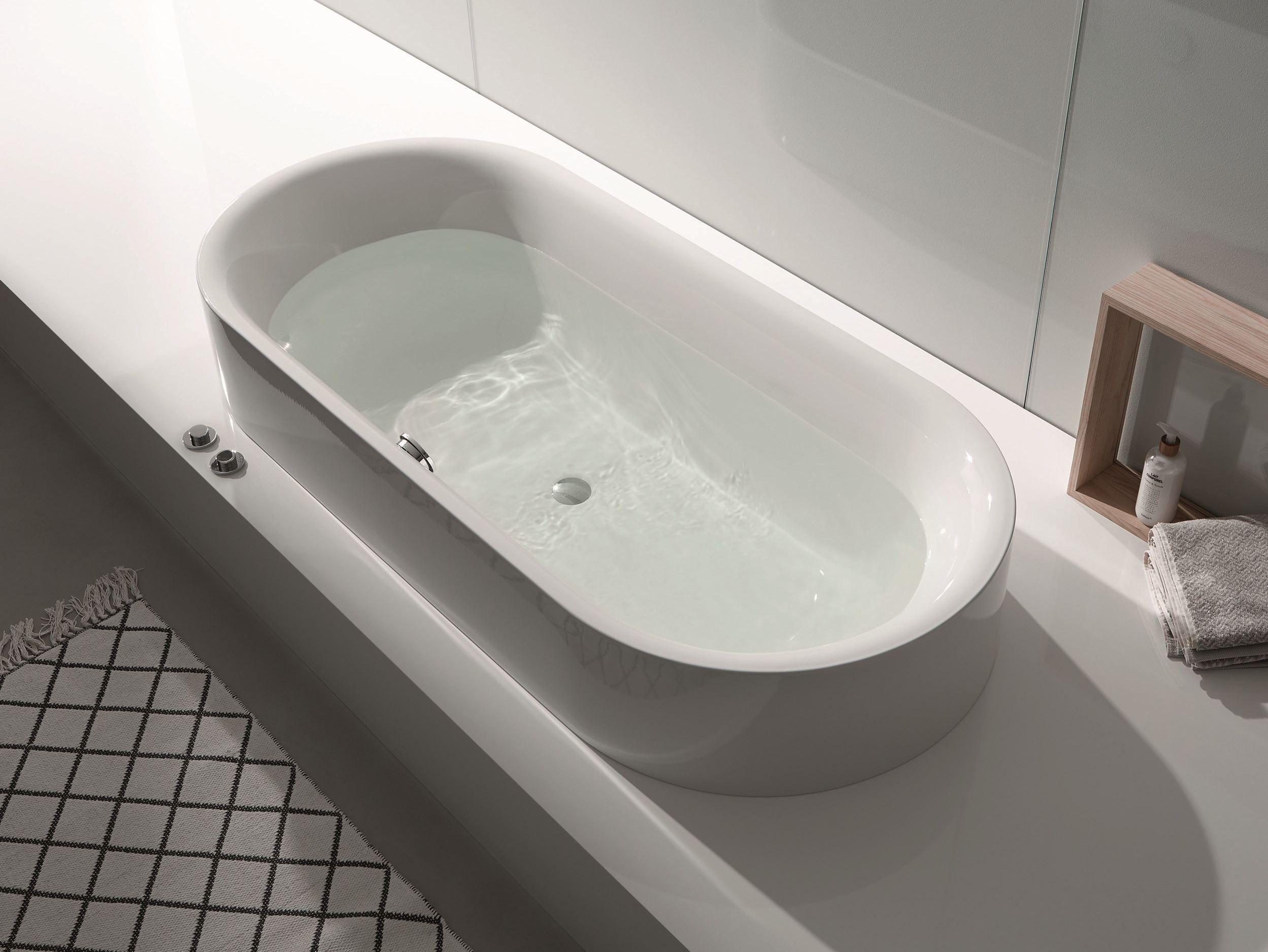 baignoire semi encastr e ovale bettelux oval highline by. Black Bedroom Furniture Sets. Home Design Ideas