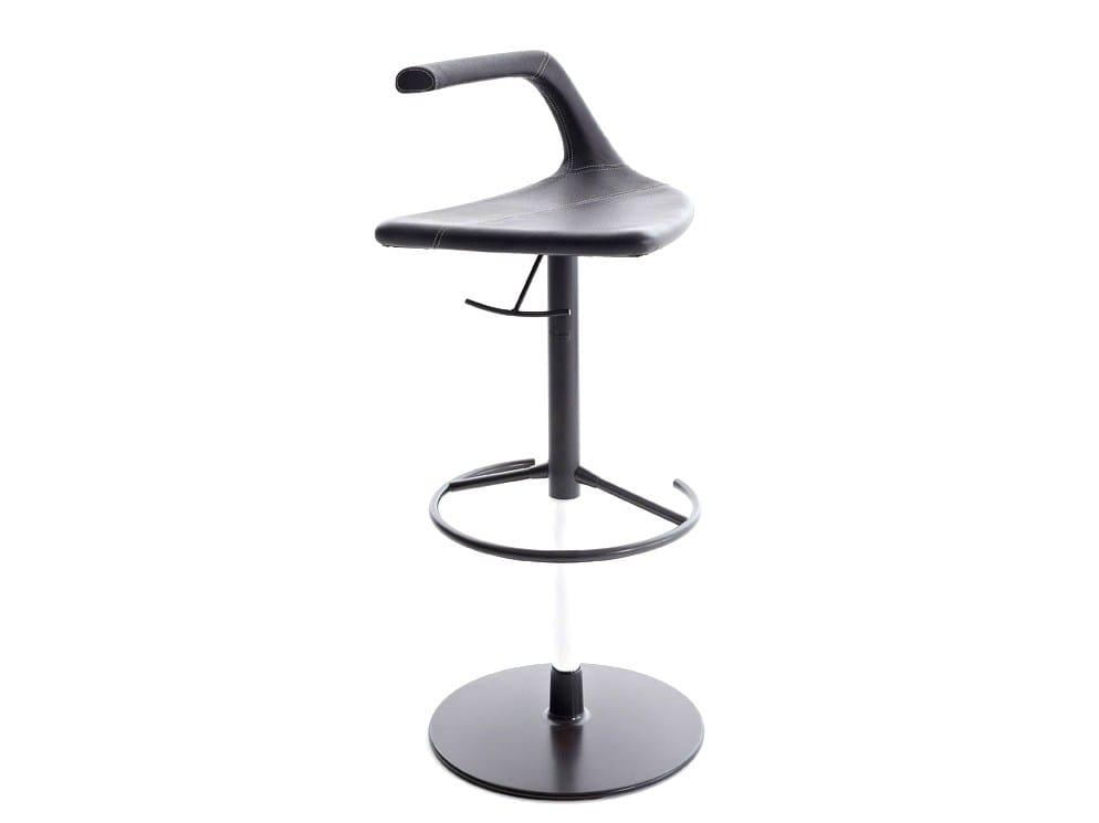 tabouret r glable en hauteur avec repose pieds geo by. Black Bedroom Furniture Sets. Home Design Ideas