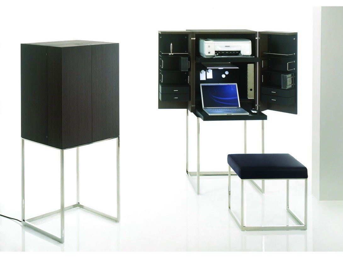 bureau avec tag re pour pc magic cube work by yomei design andr schelbach. Black Bedroom Furniture Sets. Home Design Ideas