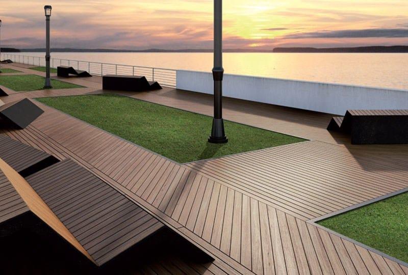 Listoni in legno per pavimenti sopraelevati teak birmano - Listoni legno per esterno prezzi ...