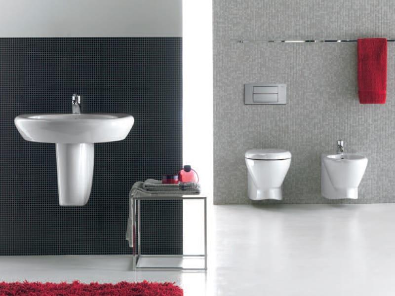 wc suspendu en c ramique collection record by roca design antonio bullo. Black Bedroom Furniture Sets. Home Design Ideas