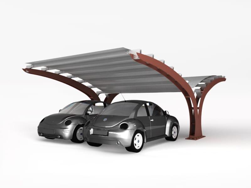 Steel porch for parking areas VELA by CITYSI design GIBILLERO design
