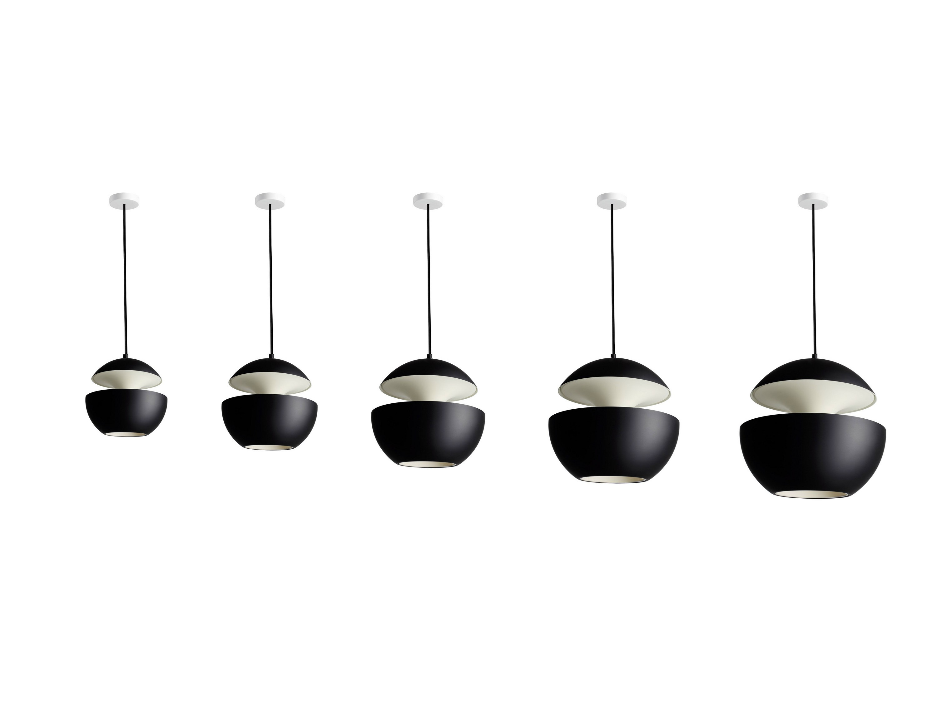 aluminium pendant lamp hcs 175 by dcw ditions design bertrand balas. Black Bedroom Furniture Sets. Home Design Ideas