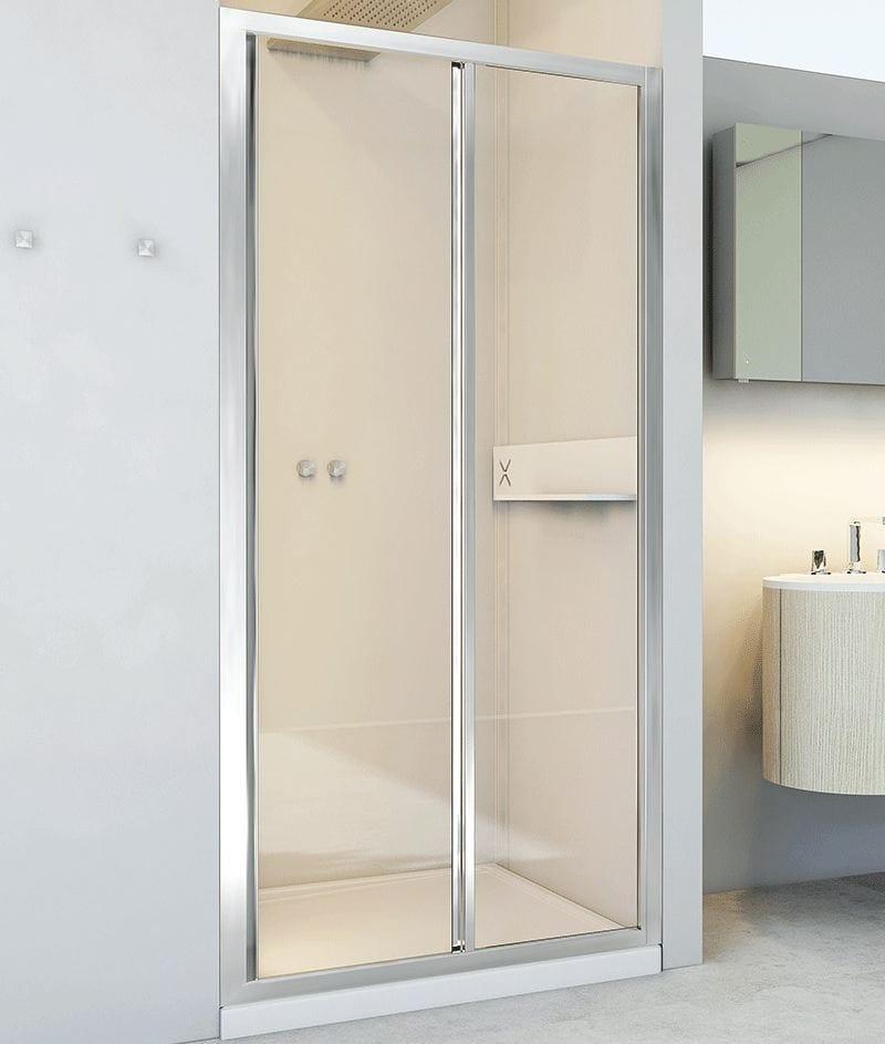 Box doccia a nicchia in alluminio e vetro con porte - Box doccia relax ...