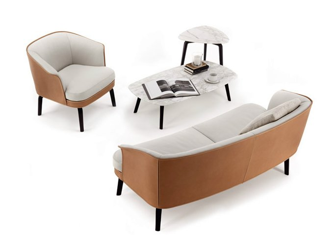 nivola canap by poltrona frau design roberto lazzeroni. Black Bedroom Furniture Sets. Home Design Ideas