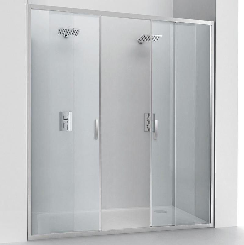 Box doccia a nicchia in cristallo con porte scorrevoli - Box doccia relax ...