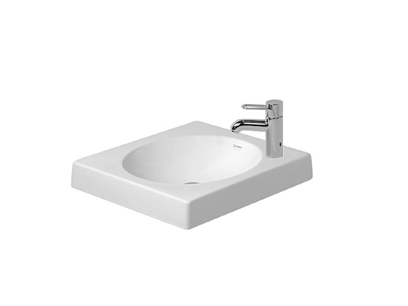 Architec countertop washbasin by duravit design frank huster for Duravit architec washbasin
