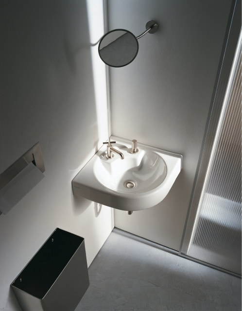 Corner Washbasins : Corner ceramic washbasin ARCHITEC Corner washbasin - DURAVIT