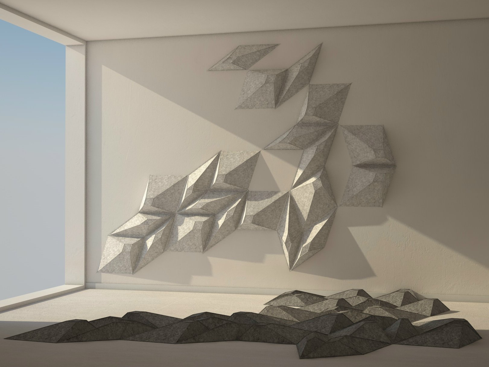 Les angles decorative acoustical panels by smarin - Decorative acoustical wall panels ...
