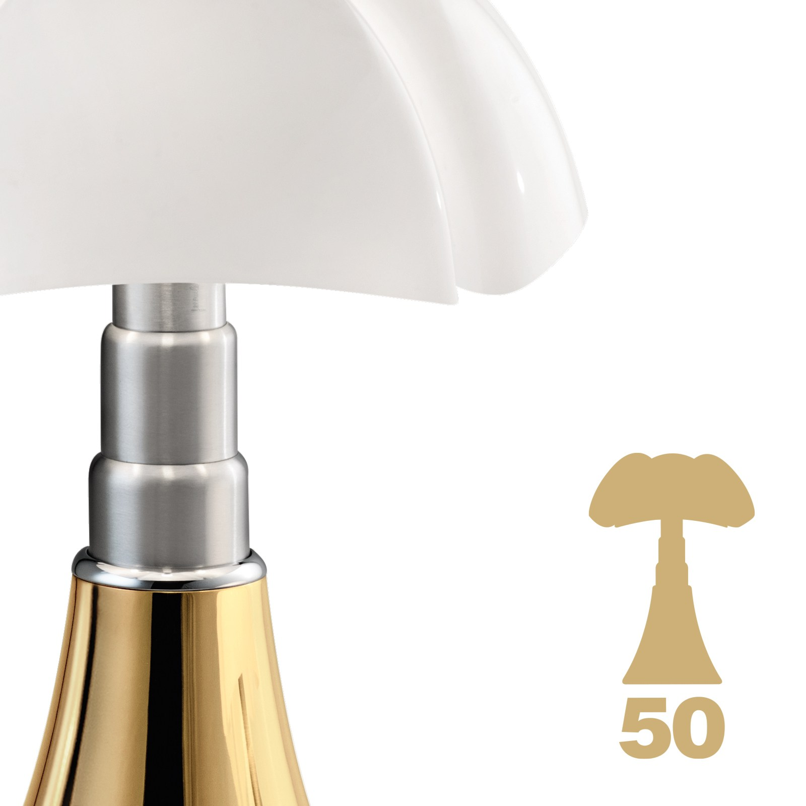 height adjustable table lamp pipistrello 50 years by martinelli luce design gae aulenti. Black Bedroom Furniture Sets. Home Design Ideas