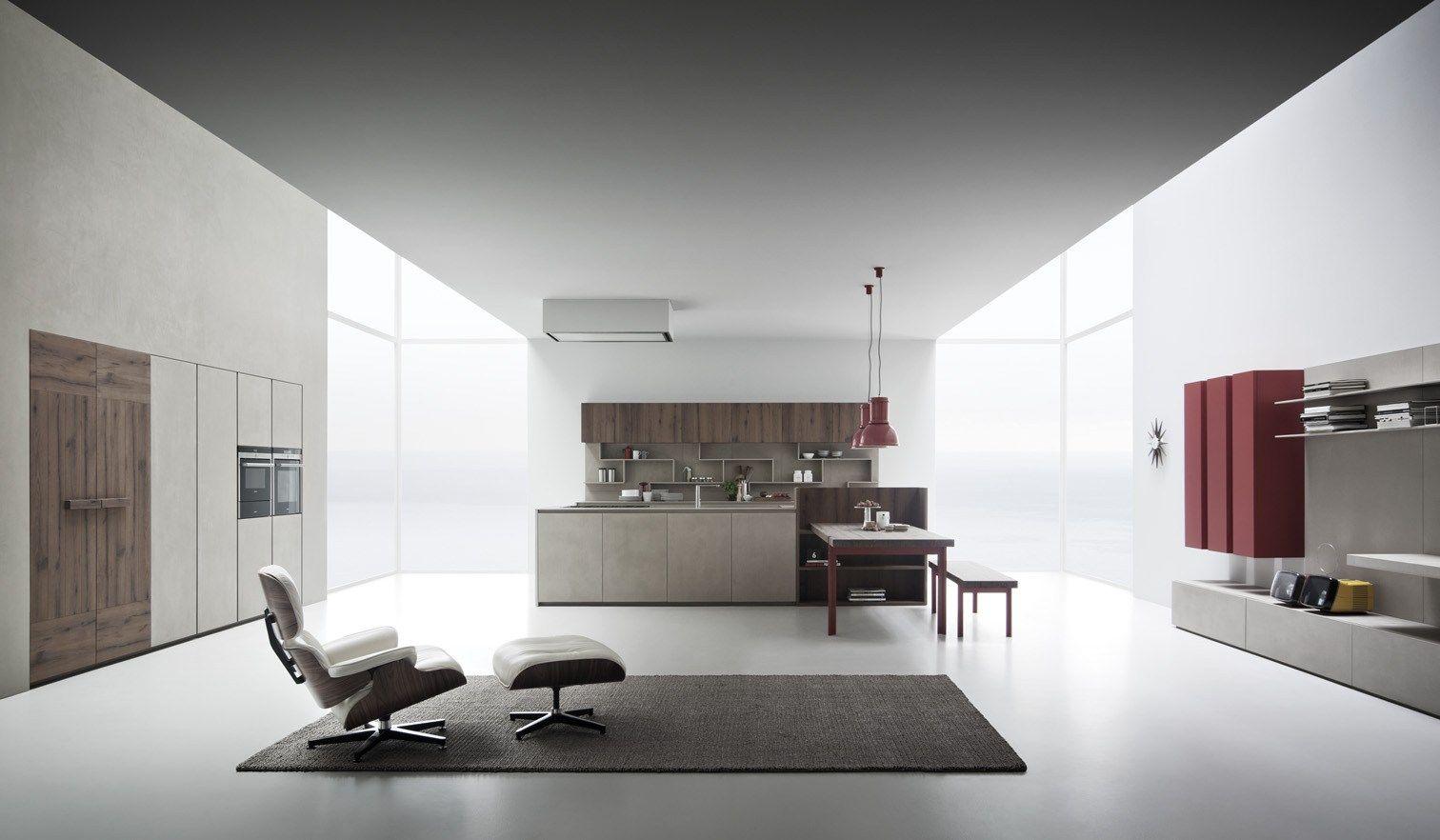 Resin Kitchen Floor Line K Kitchen With Island By Zampieri Cucine Design Stefano