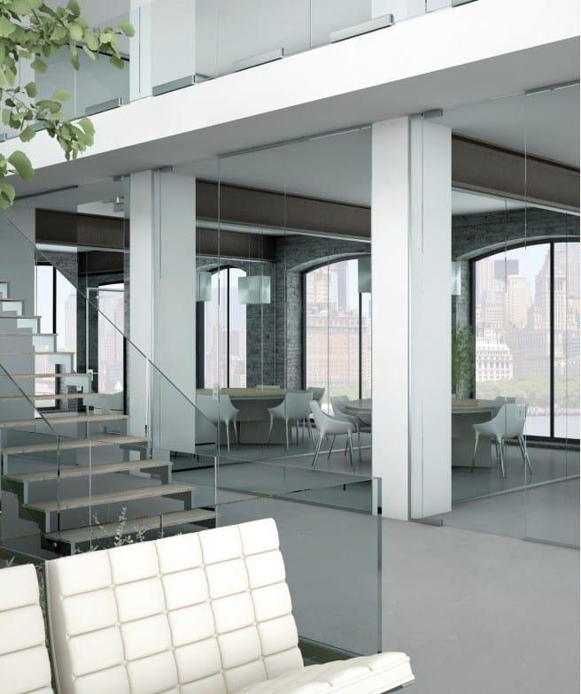 Parete mobile per ufficio light p 050 by metalglas bonomi for Mobile per ufficio