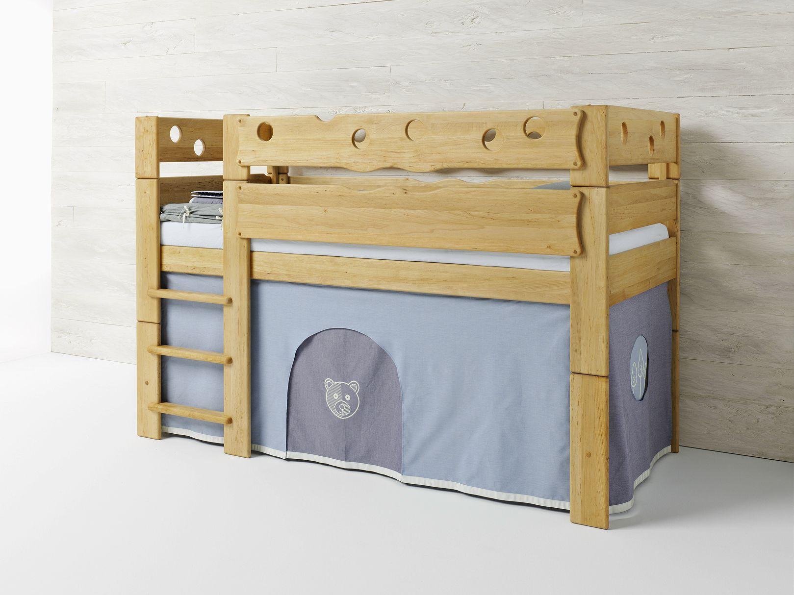 hochbett aus erle f r kinderzimmer b r by team 7 nat rlich. Black Bedroom Furniture Sets. Home Design Ideas
