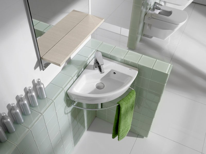 Corner Washbasins : Wall-mounted washbasin HALL Corner washbasin - ROCA