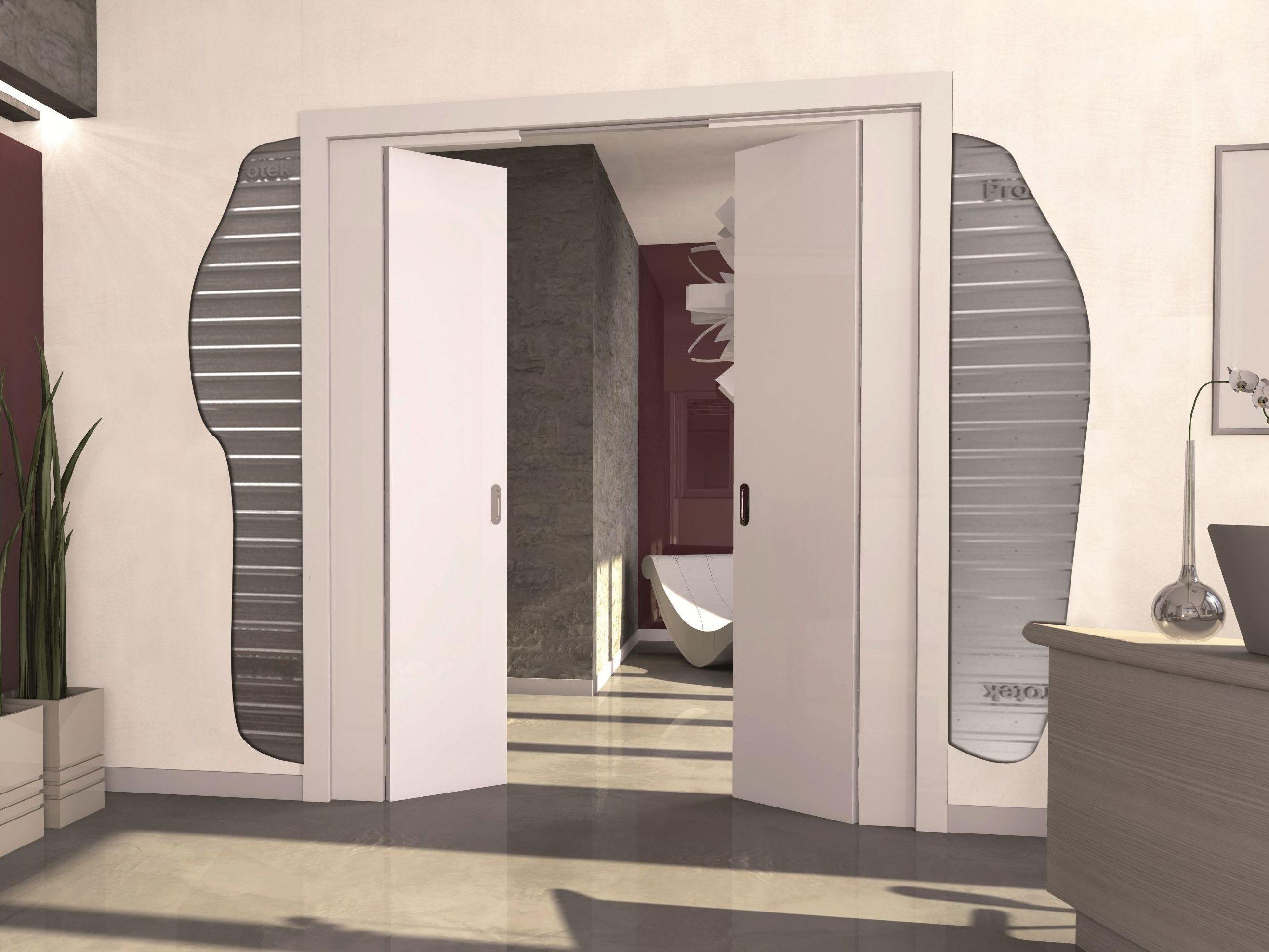 schiebet r system f r doppel schiebet ren halb aussen doppelt by protek. Black Bedroom Furniture Sets. Home Design Ideas