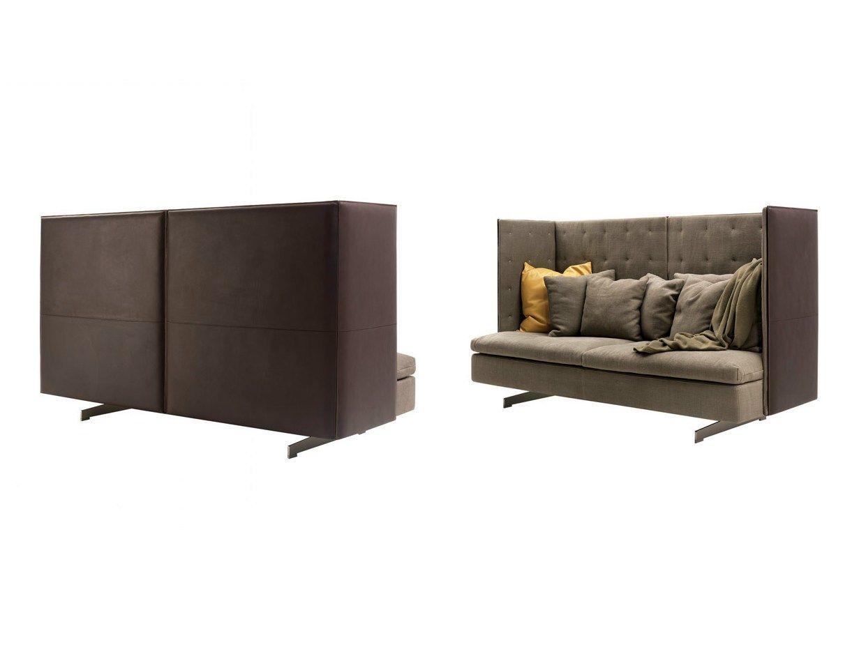 sofa mit hoher r ckenlehne grantorino hb by poltrona frau design jean. Black Bedroom Furniture Sets. Home Design Ideas