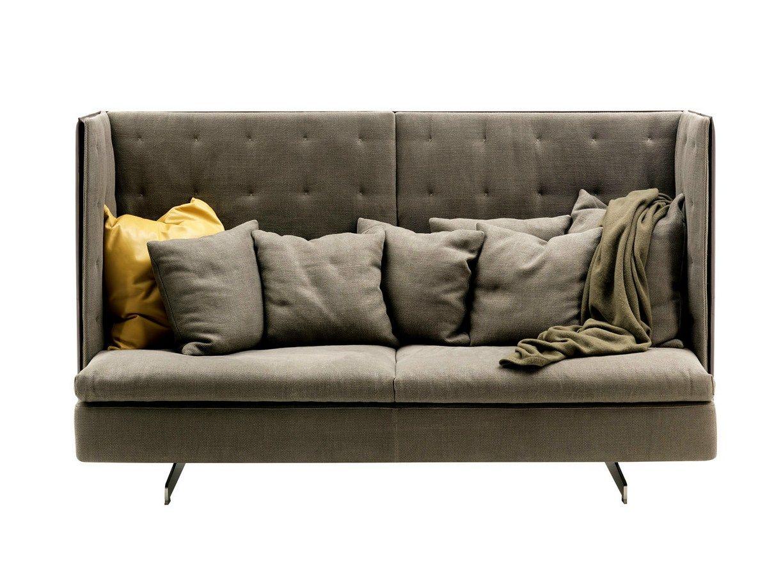 canap avec dossier haut grantorino hb by poltrona frau. Black Bedroom Furniture Sets. Home Design Ideas