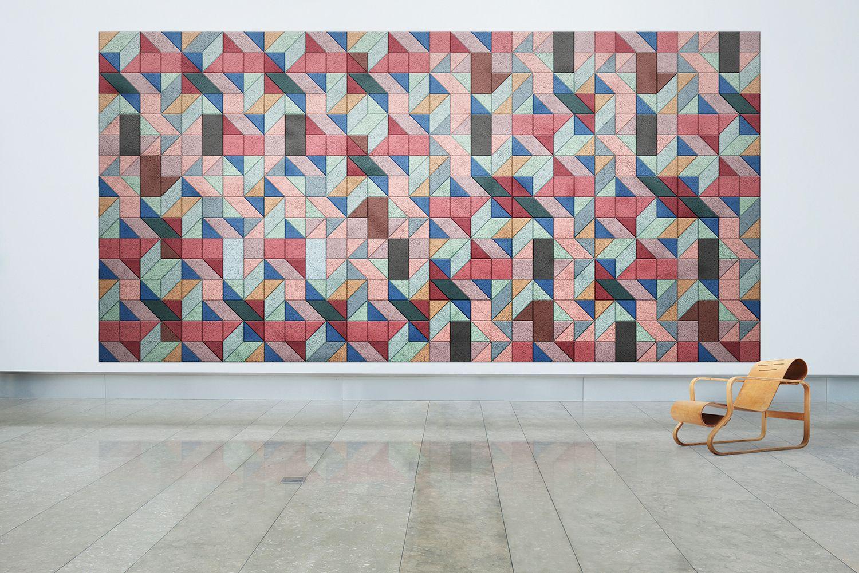 Pannelli decorativi acustici in cemento legno baux acoustic tiles ...