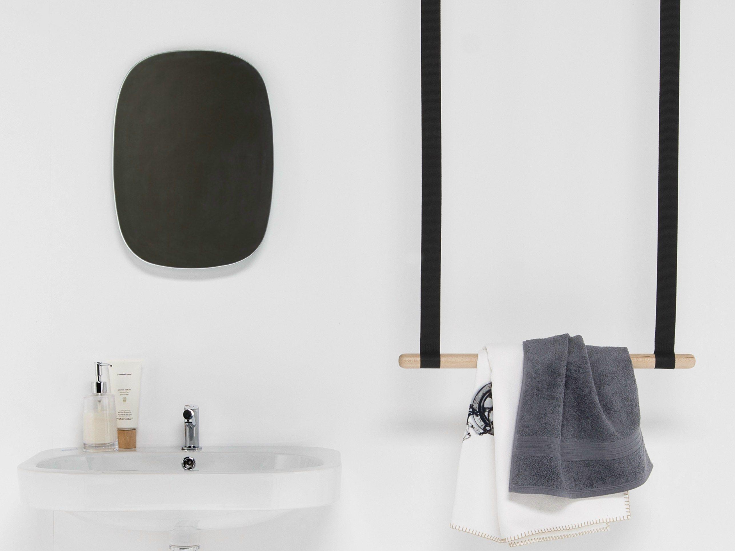 Porta asciugamani a barra da soffitto in faggio gambol porta asciugamani a barra ever by - Portapentole da soffitto ...
