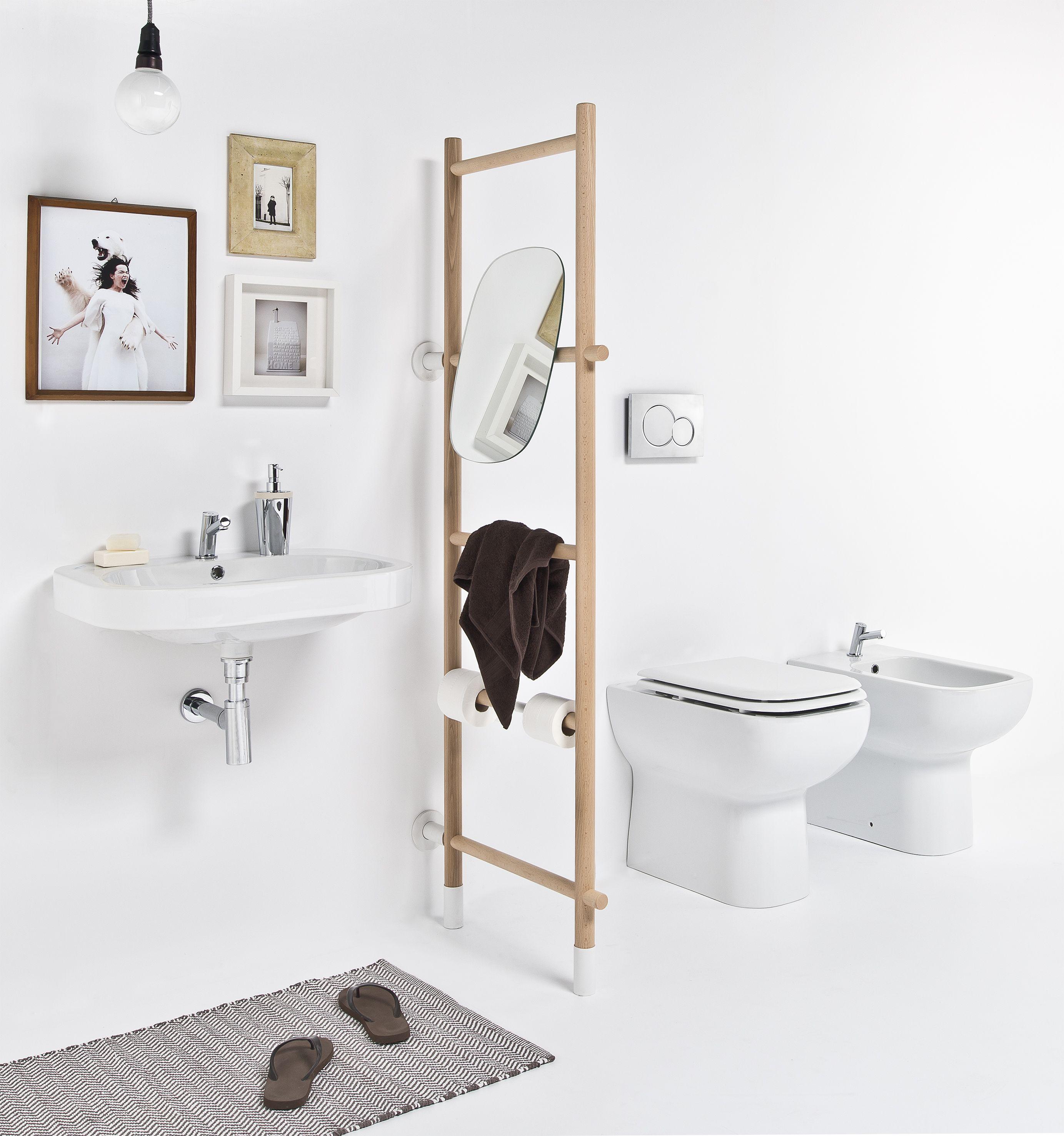 Scaletta bagno multifunzionale rung scala da appoggio by - Scaletta porta asciugamani bagno ...