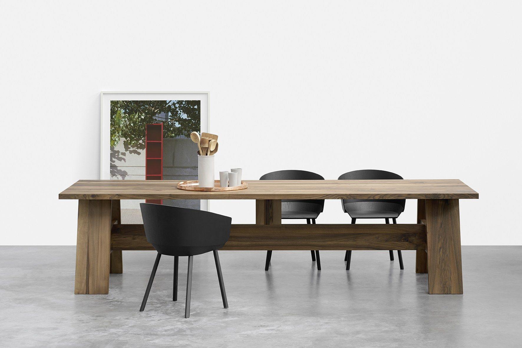 Tavolo rettangolare in legno massello fayland by e15 for Tavolo rettangolare design