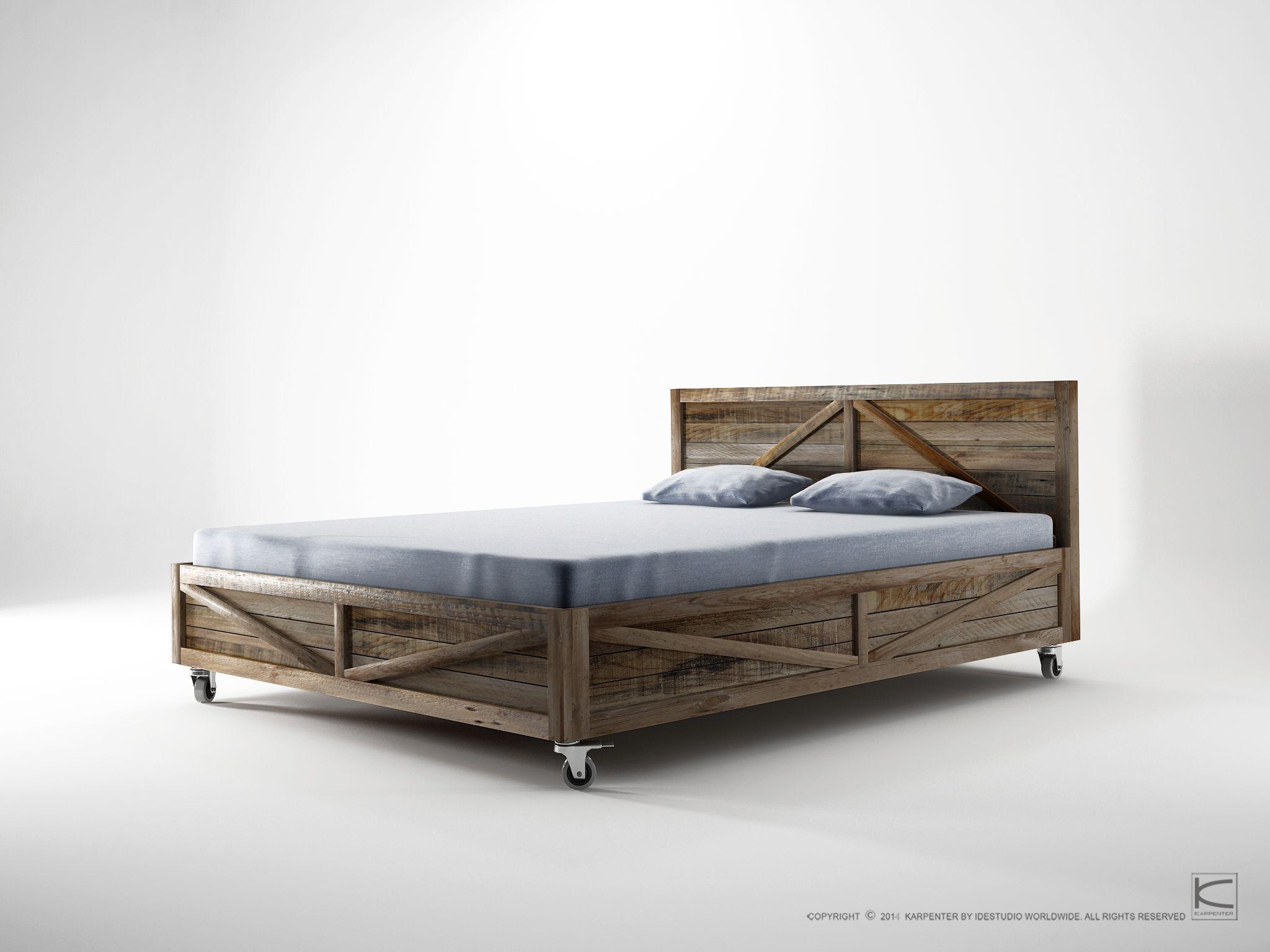 krate king size bett by karpenter design hugues revuelta. Black Bedroom Furniture Sets. Home Design Ideas