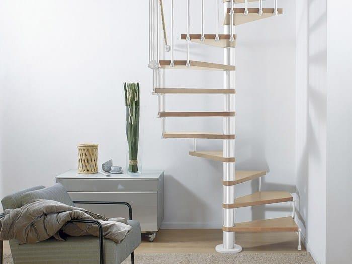 Escalera de caracol cuadrada en acero y madera en kit for Escaleras fontanot