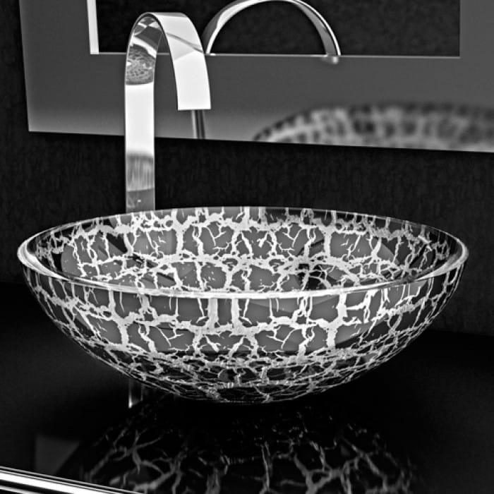 rundes aufsatzwaschbecken aus glas kalahari 34 by glass. Black Bedroom Furniture Sets. Home Design Ideas