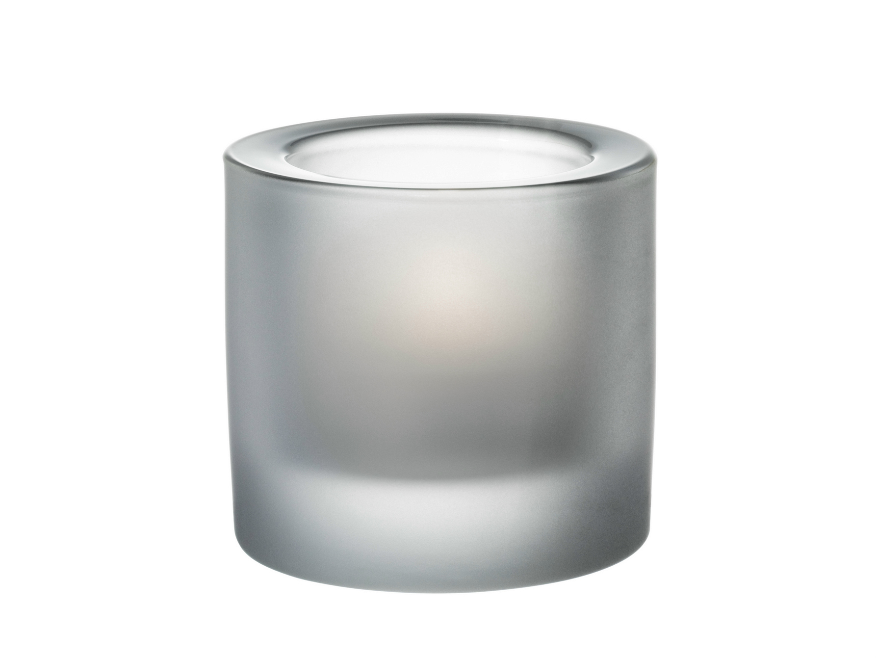 KIVI Portacandele in vetro satinato by iittala design Heikki Orvola