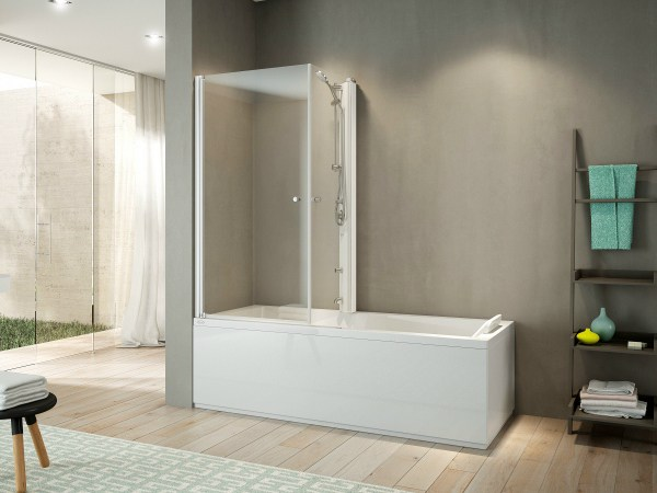 Vasca da bagno angolare con doccia mix 70 by jacuzzi europe - Vasca bagno con doccia ...