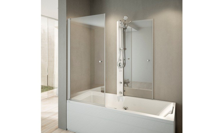 Ba era de esquina con ducha mix 80 by jacuzzi europe - Baneras con ducha ...