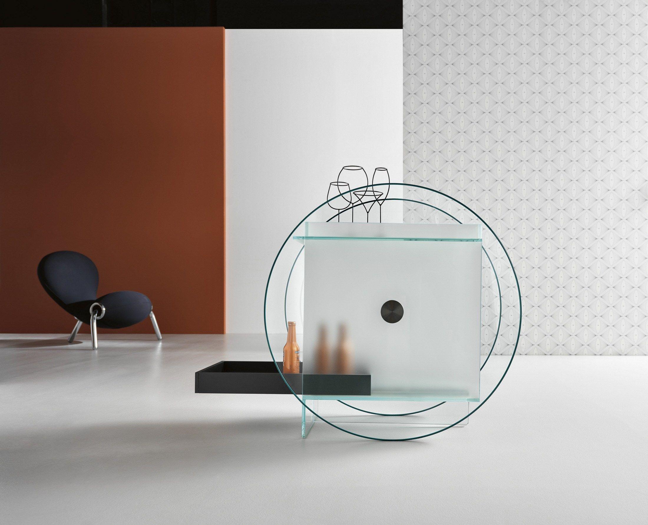 Mueble bar de vidrio KART by TD Tonelli Design diseño Karim Rashid