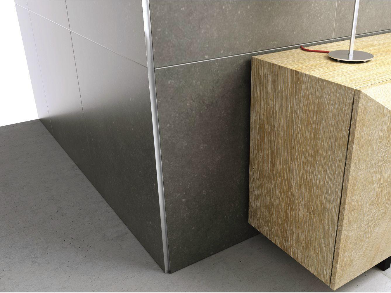Profilo paraspigolo in alluminio cerfix proangle ax by profilpas - Paraspigoli per piastrelle bagno ...