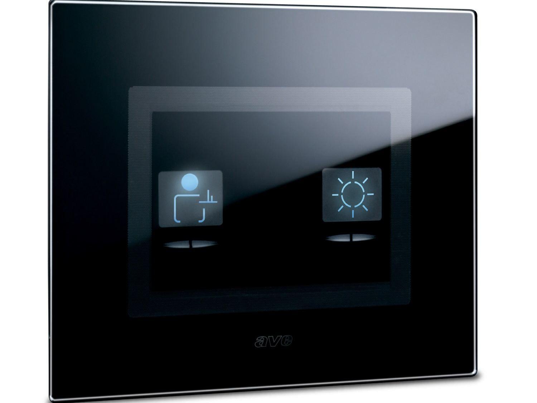 Interruttore per comando luce con simboli life touch by ave for Collegamento interruttore luce