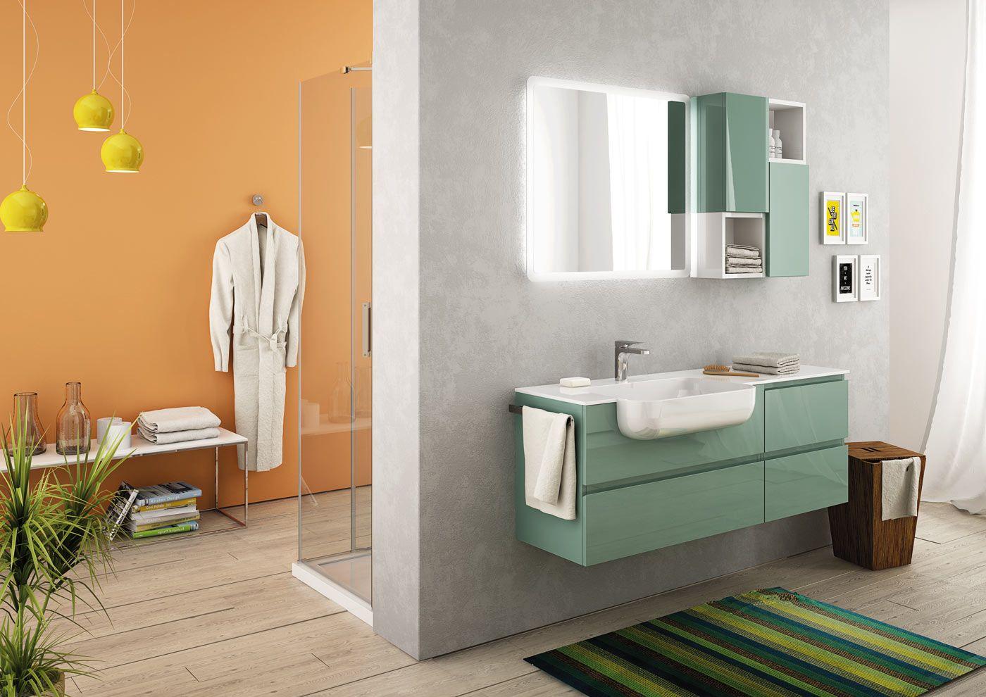 Mobile bagno verde acqua wc84 regardsdefemmes - Legnobagno prezzi ...