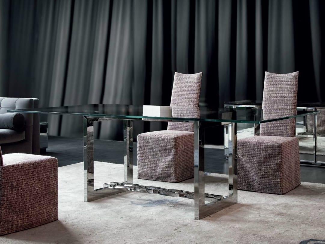 rectangular marble living room table rockcoc by erba italia. Black Bedroom Furniture Sets. Home Design Ideas