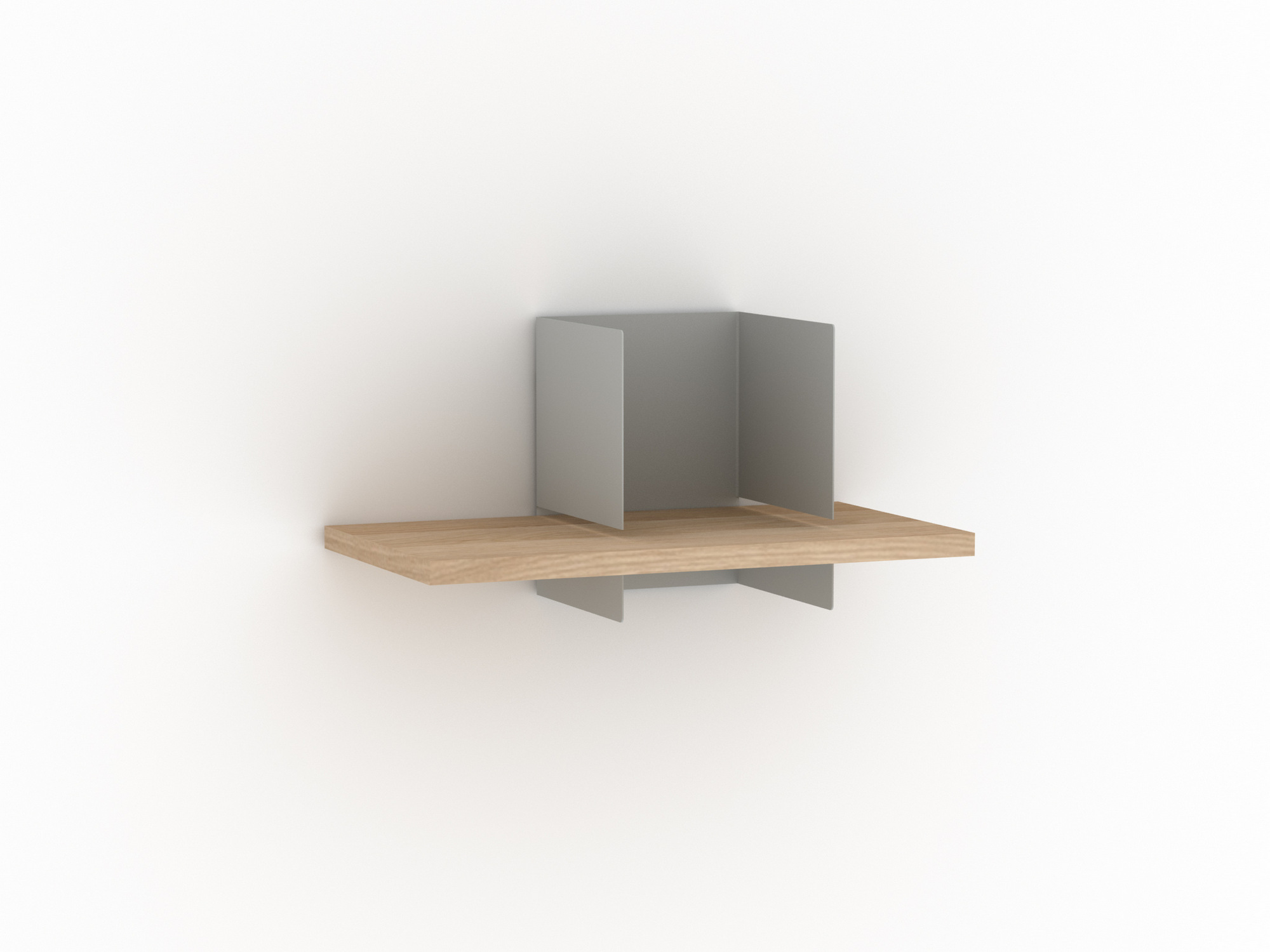 Oak and metal wall shelf CLIP WALL SHELF SMALL By Universo Positivo design  Alain Van Havre. Oak and metal wall shelf CLIP WALL SHELF SMALL By Universo