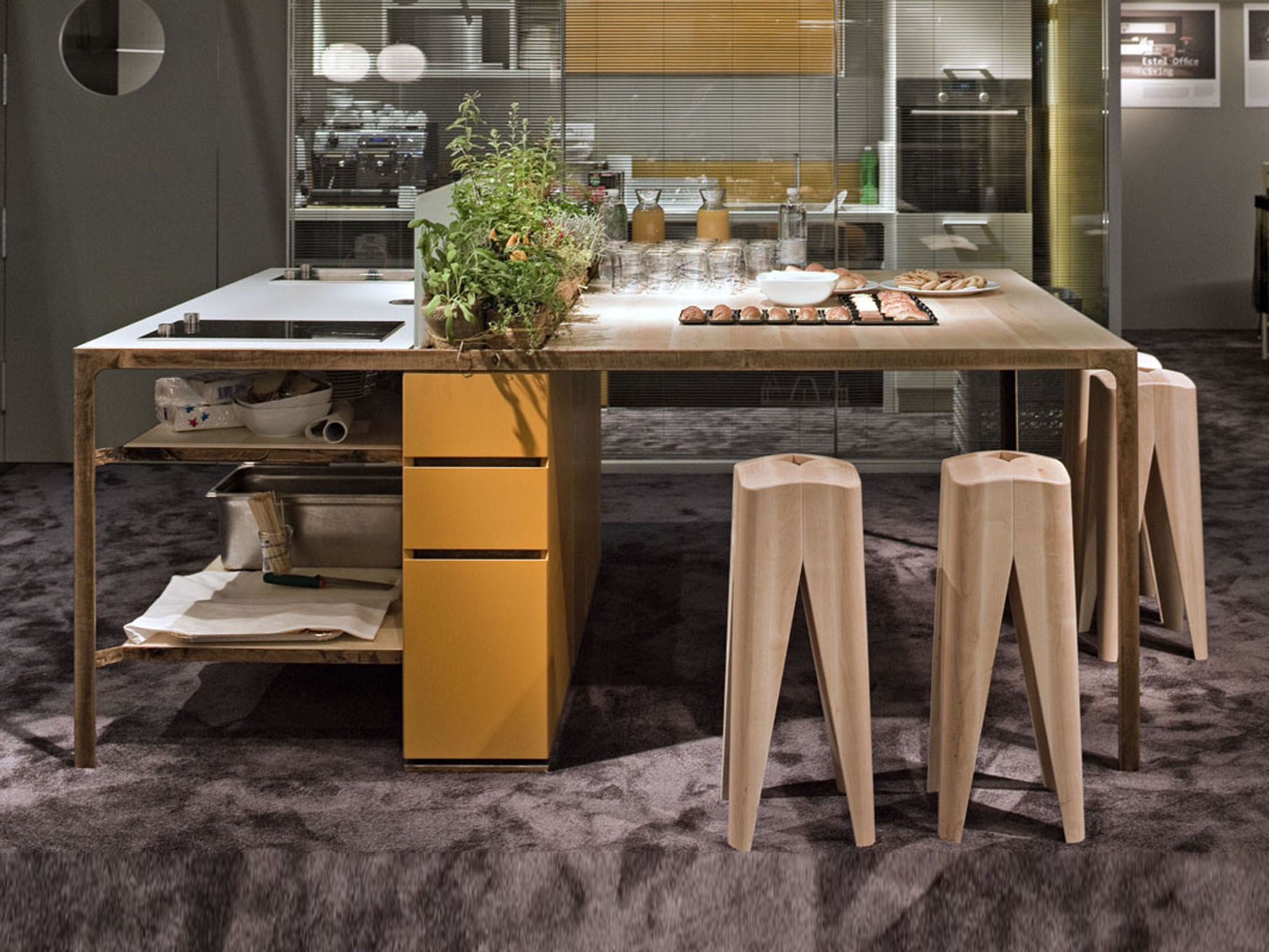 Cucina con isola MORE KITCHEN ISOLA by ESTEL GROUP