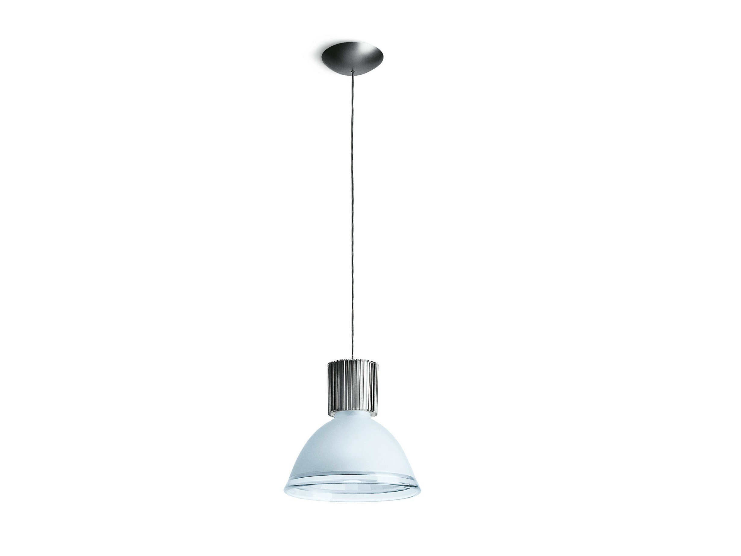 Direct light aluminium pendant lamp CENTRAL by iGuzzini Illuminazione design Vignelli Associates ...