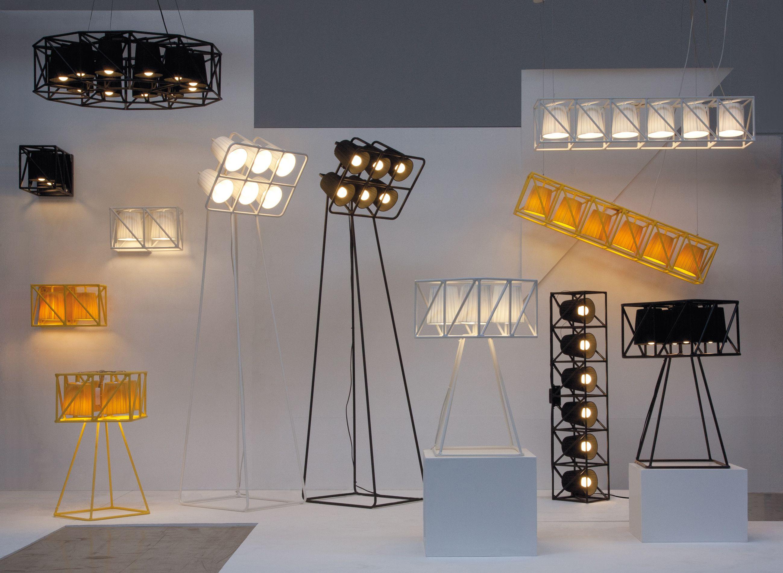 Multilamp floor lamp by seletti design emanuele magini for Suspension style industriel