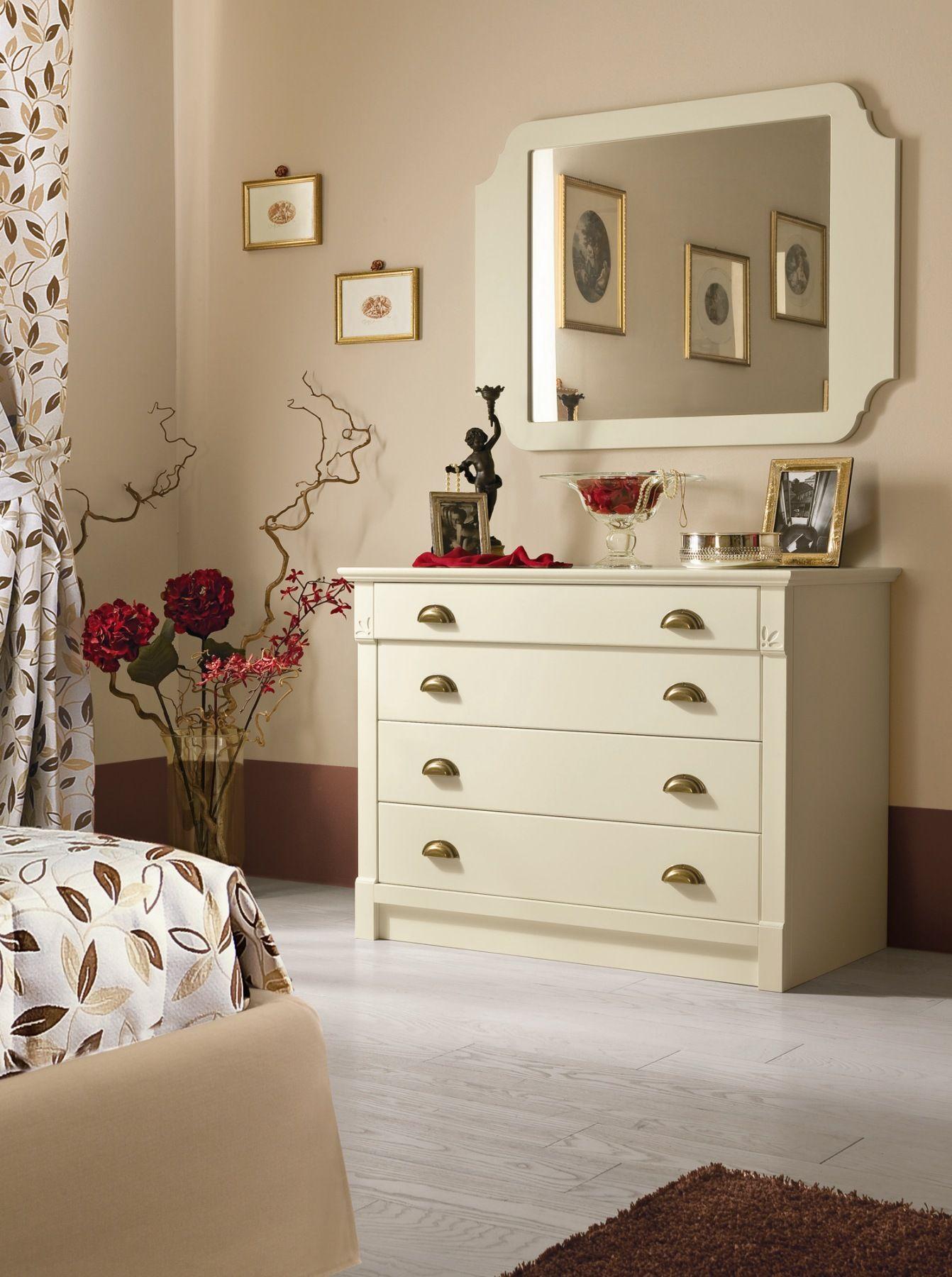 Camera da letto in legno romantic composizione 04 by for Bf arredamenti