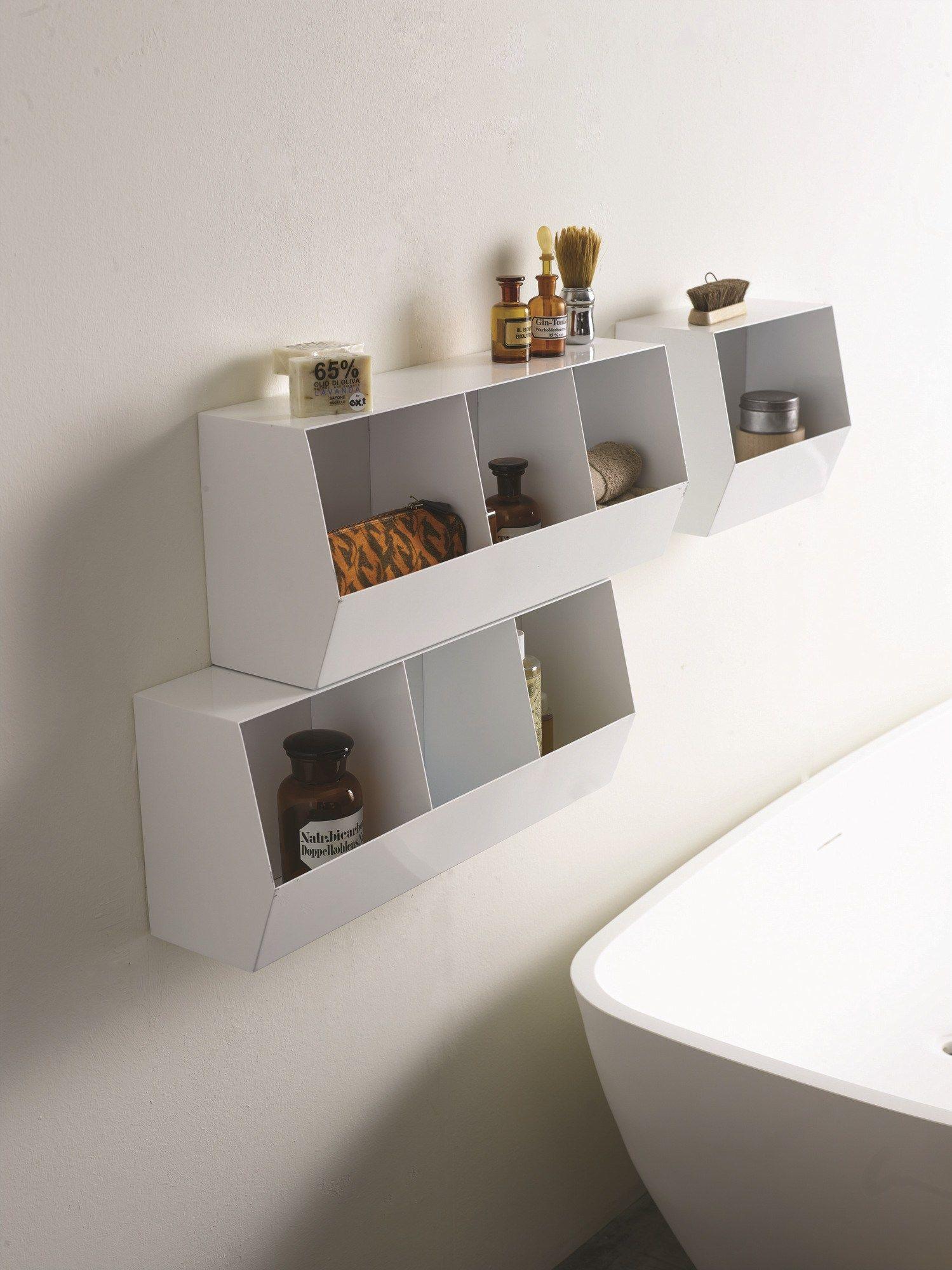 Contenitori modulari a parete in metallo verniciato container ex t - Contenitori per bagno ...